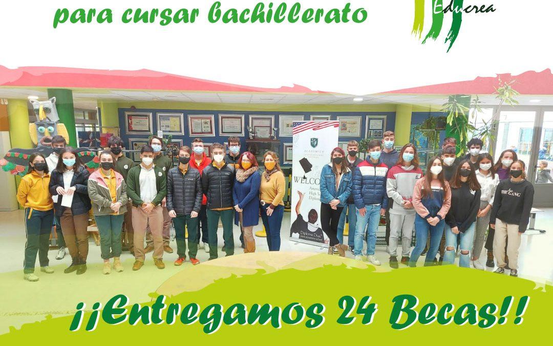 Becas 2021/2022 de la fundación Educrea para cursar bachillerato